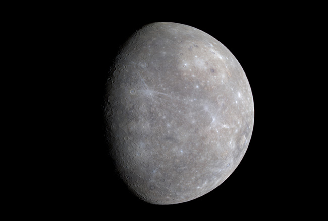 Spacecraft Zooms by Mercury for Second Time
