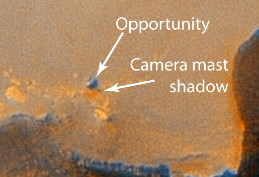 Mars Rover Opportunity Rests by Santa Maria Crater — Close-up