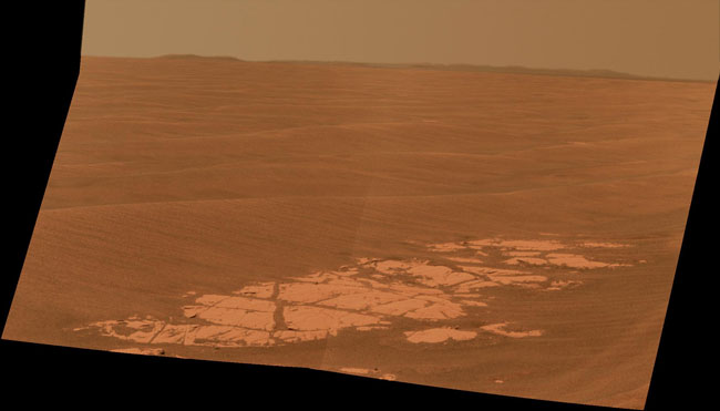 Mars Rover Spies Next Crater Destination