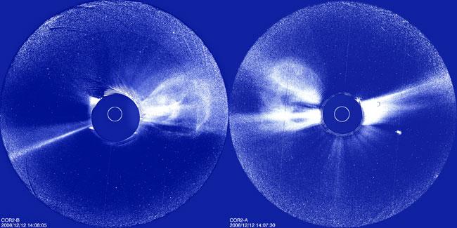 Solar Storm's Anatomy Probed in 3-D