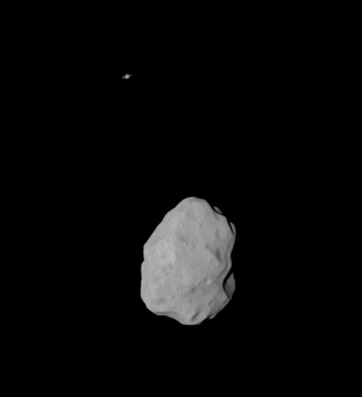 Saturn and Lutetia