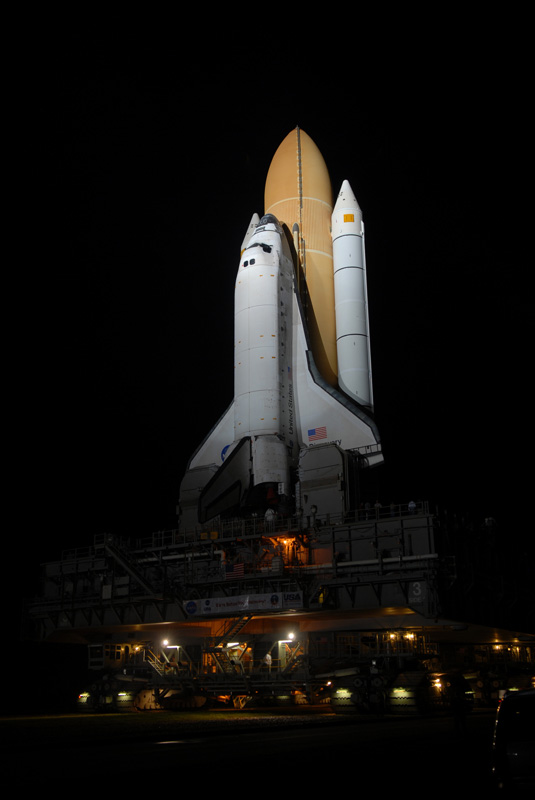 Space Shuttle Discovery Takes One Last Trip to Launch Pad