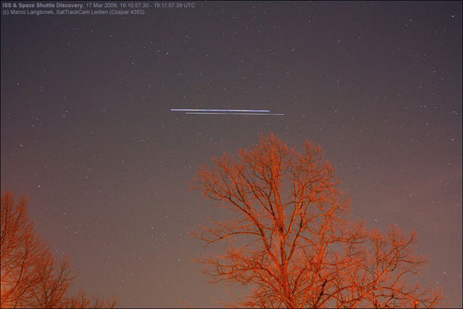 Look, Up in the Southern Sky: Shuttle with Space Station for Last Time