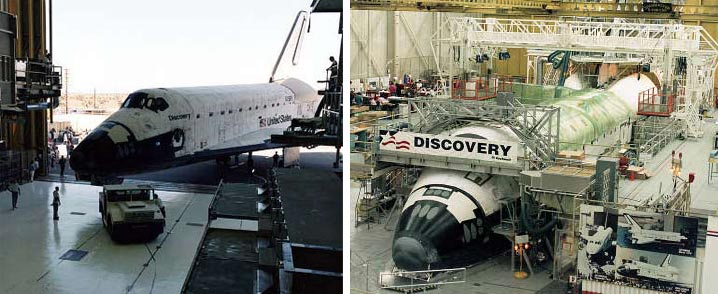 A look at space shuttle Discovery's major overhaul between 1995 and 1996.