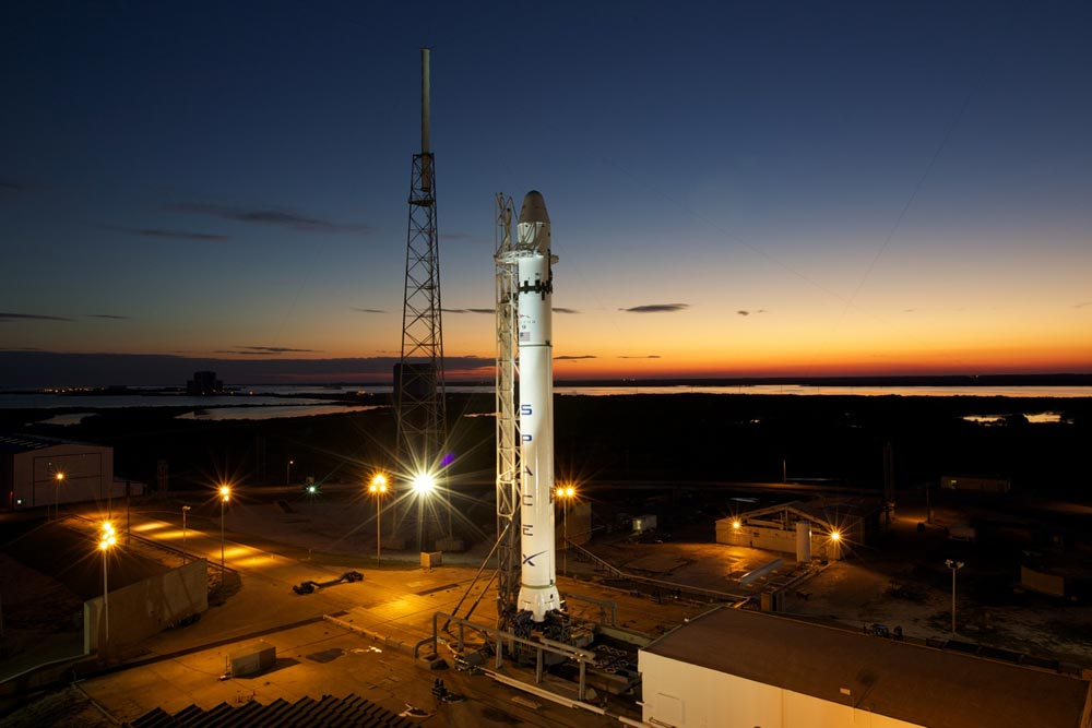 SpaceX's New Rocket At Launch Pad for Final Tests