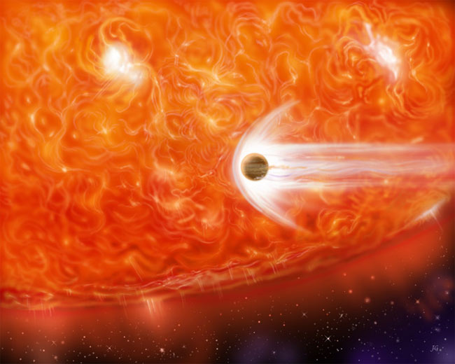 Planet Found Orbiting Puffed-Up Star