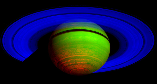 Saturn Cassini Heat Emission