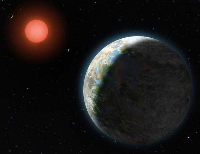 Alien World Tour: The Exoplanets Around Star Gliese 581