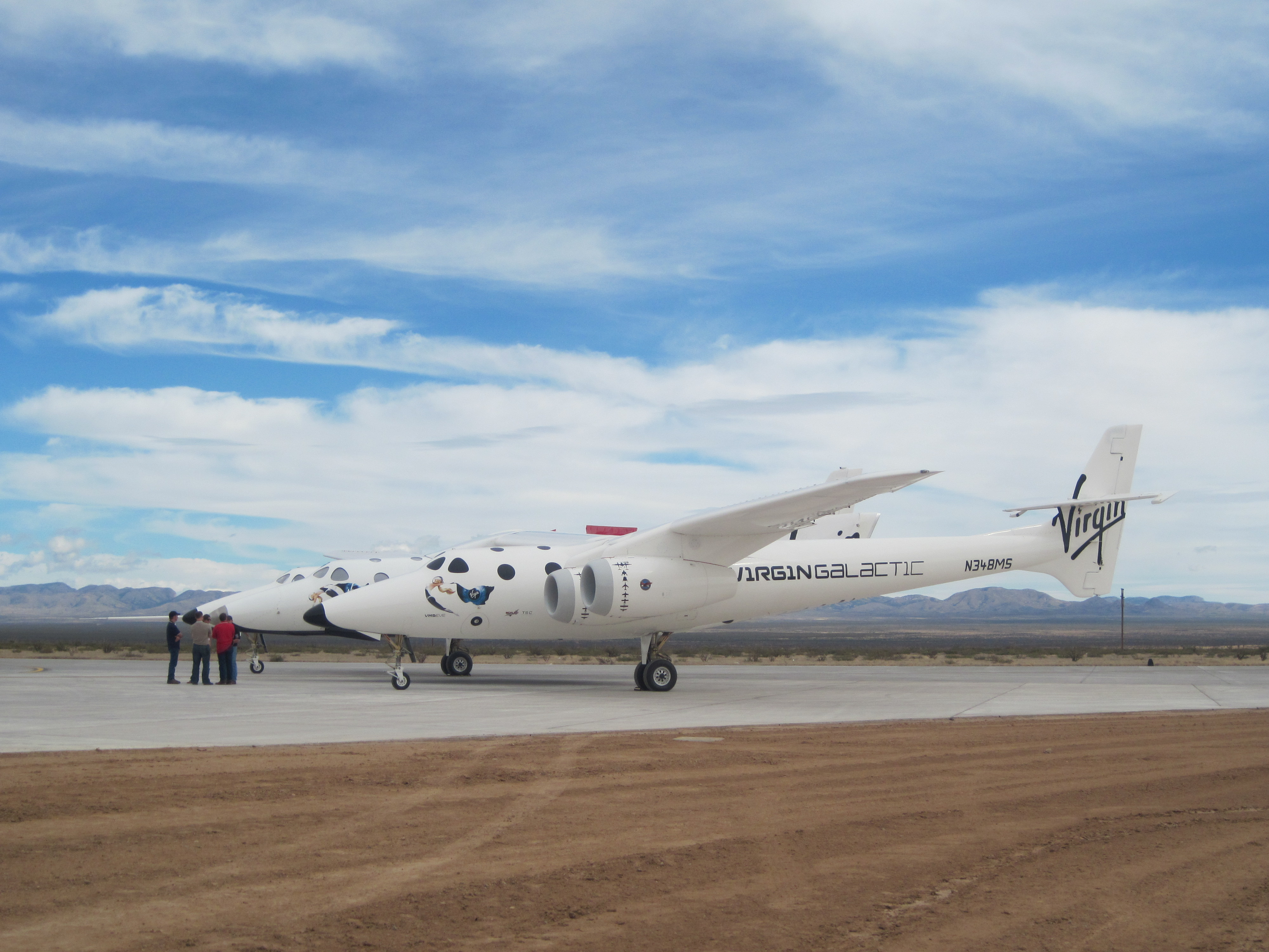 SpaceShipTwo on the New Runway at Spaceport America
