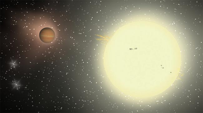 TrES-4, the biggest planet discovered so far
