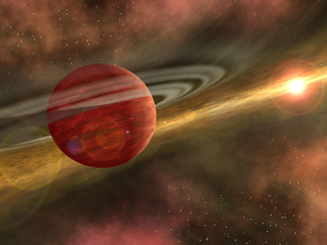 The youngest exoplanet yet discovered is less than 1 million years old.