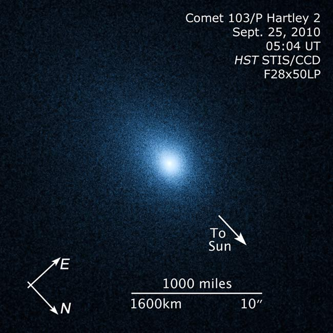 Deep Impact Spacecraft Closing in on Comet Hartley 2