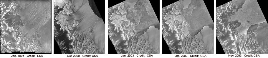 Satellites Track Glaciers Flows After Ice Dam Breaks