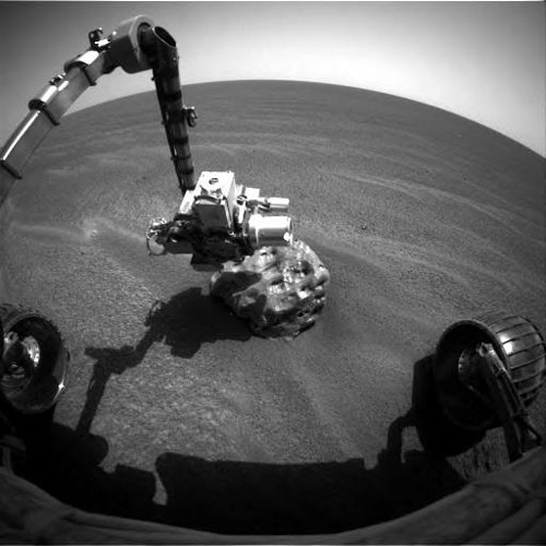 Mars Rover Inspects Intriguing Rock – A Meteorite?