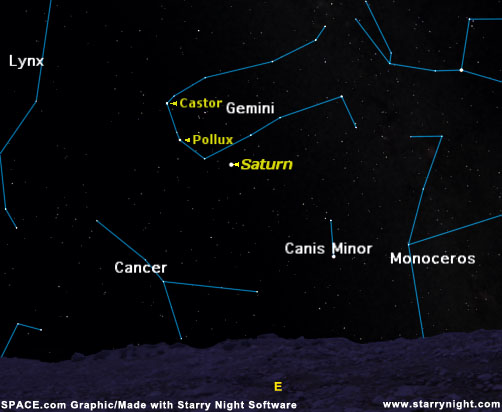 planet saturn location in sky - photo #26