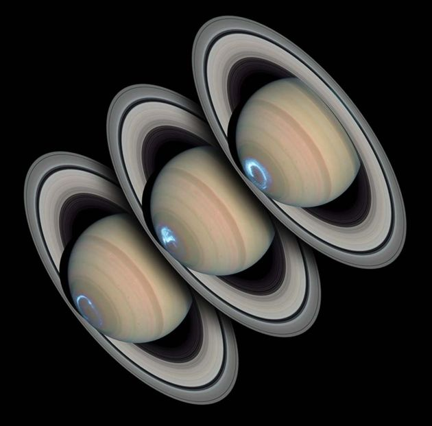 Bright Lights, Eerie 'Heartbeat' at Saturn