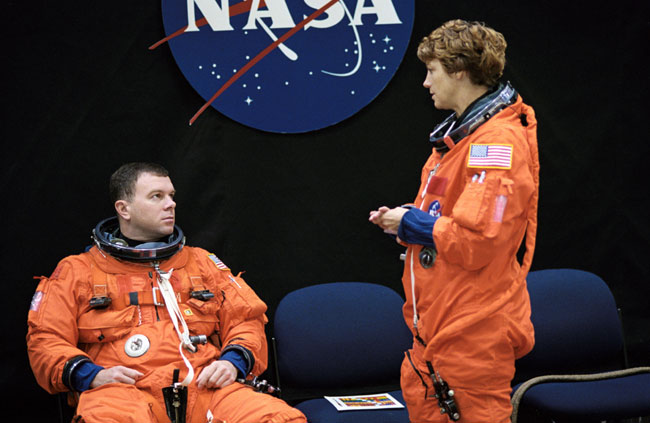 Flying in the Front Seats: A Look at STS-114's Commander and Pilot