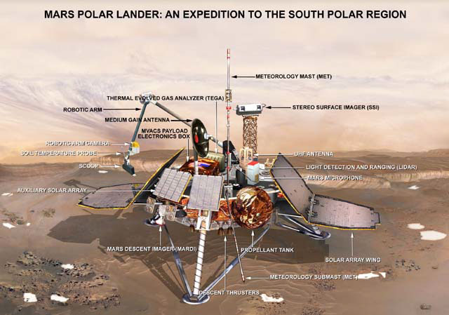 Search on Again for Mars Polar Lander