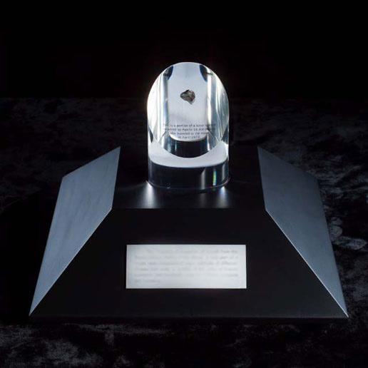 Apollo 17 Commander Receives NASA's First Moon Rock Award