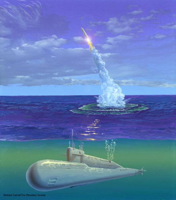 Russian Submarine Reaches Solar Sail Launch Site