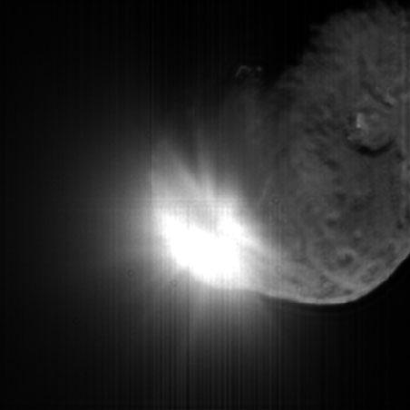 space probe comet impact - photo #16