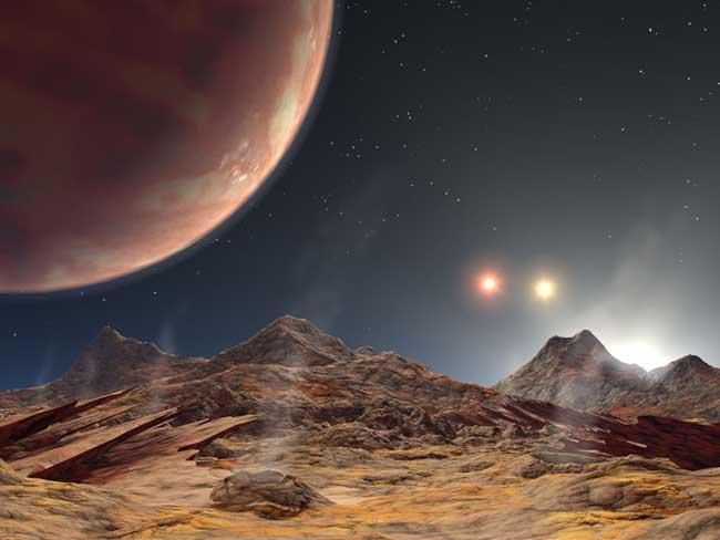 El insólito planeta con tres soles 050713_trinary_sunset_02