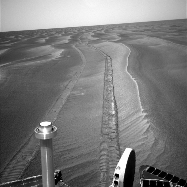 Mars Rovers Wheel Onward