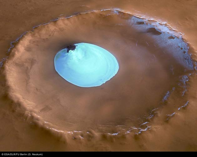 Ice Lake Found on Mars