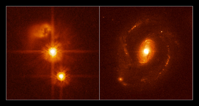 Black Hole Lurks in Invisible Galaxy