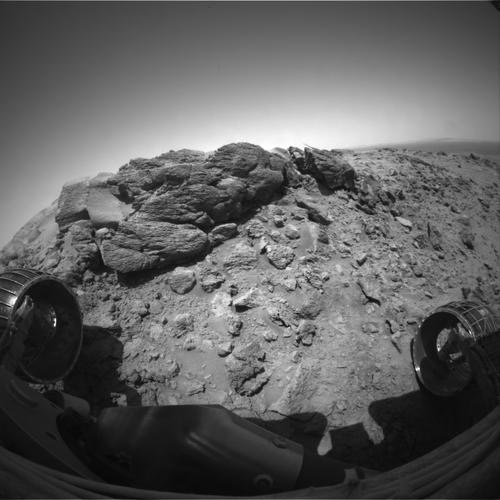 NASA's Spirit Rover Descends From Martian Hilltop