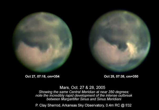 Major Dust Storm on Mars Visible with Backyard Telescopes