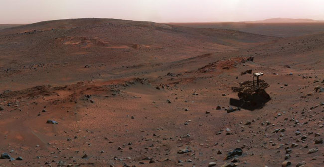 Seasonal Red Planet: NASA's Spirit Rover Completes One Full Martian Year
