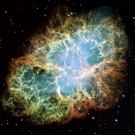The Hubble Space Telescope has caught the most detailed view of the Crab Nebula in one of the largest images ever assembed by the space-based observatory.