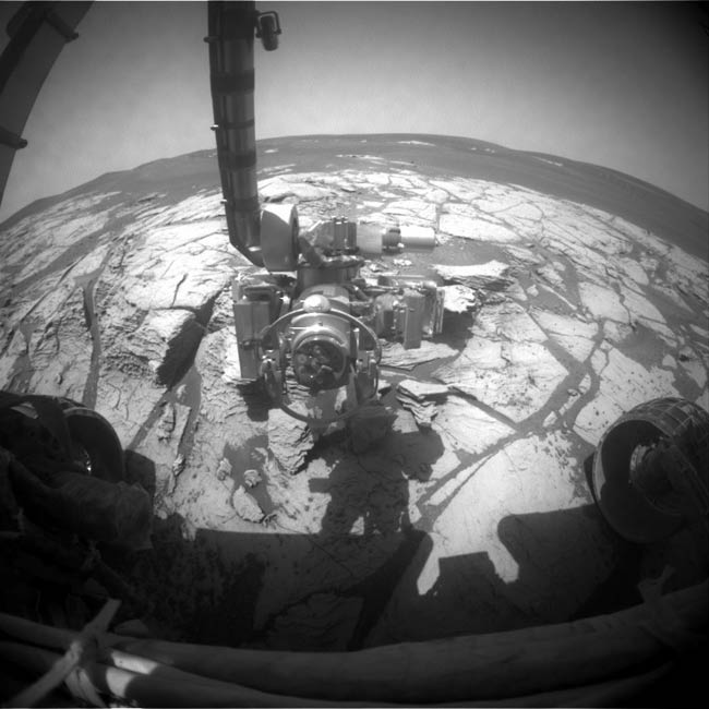 NASA's Opportunity Rover Flexes Robotic Arm
