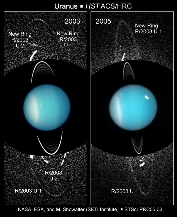 New Moons and Rings Found at Uranus