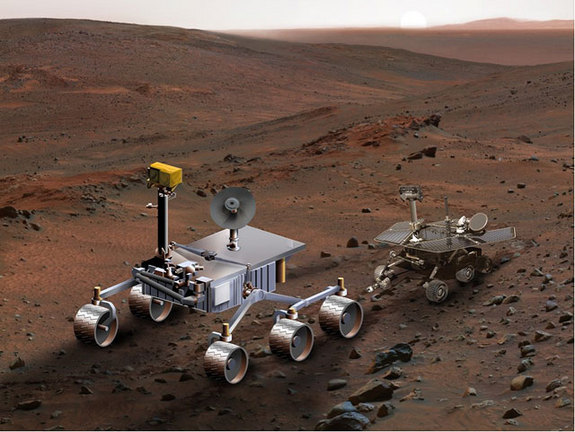 The Mars Science Laboratory (MSL) will be much larger than NASA's two Mars Exploration Rovers that began exploring the red planet in early 2004. Image