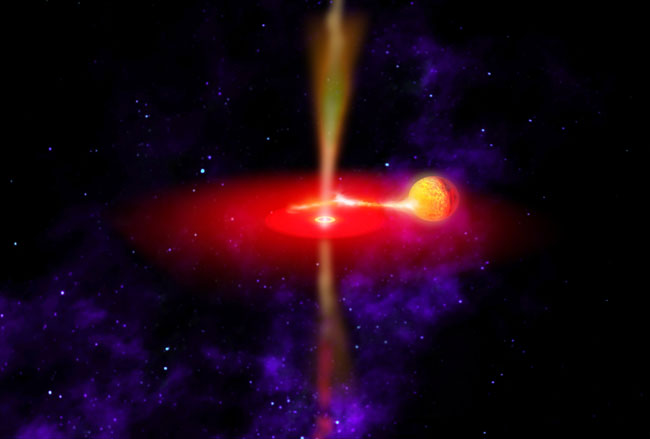 Black Hole Puts Dent In Space-time