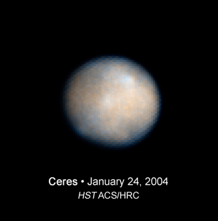 Ceres: A Water-Logged Sphere?