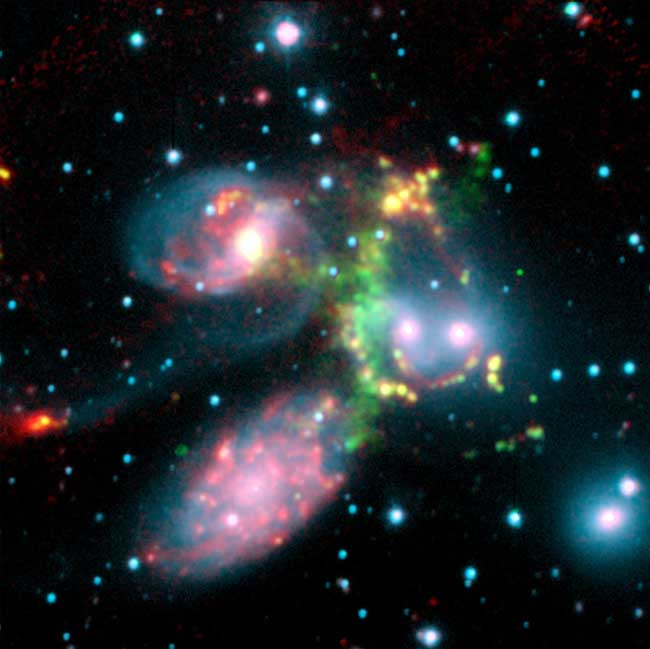 What a Shock! Galaxies Caught Colliding