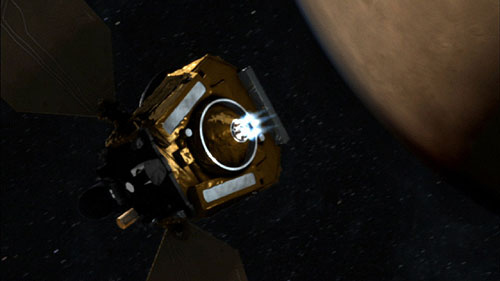 NASA Mars Probe on Target for Orbital Arrival