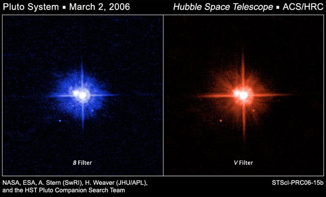 Hubble Finds Pluto's Moons Less than Colorful