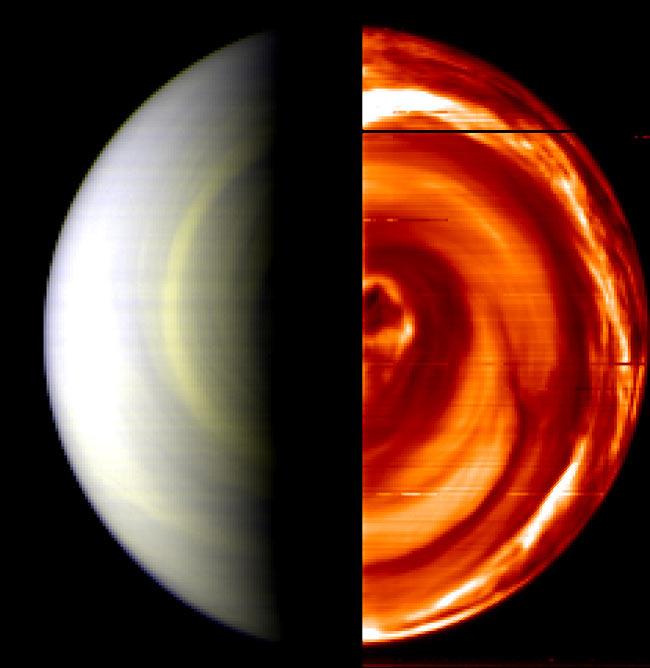 Hot Discovery: Dark Vortex on Venus