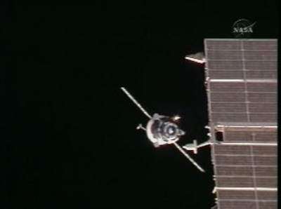 ISS Crew Welcomes Fresh Russian Cargo Ship