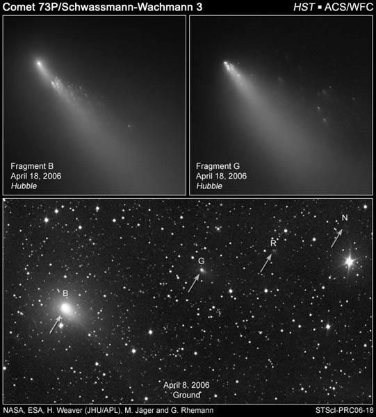 NASA Says Comet Fragments Won't Hit Earth