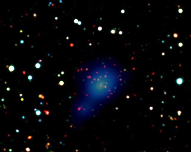 Maturity of Farthest Galaxy Cluster Surprises Astronomers