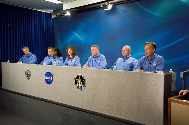 Discovery Shuttle Astronauts Ready for STS-121 Mission