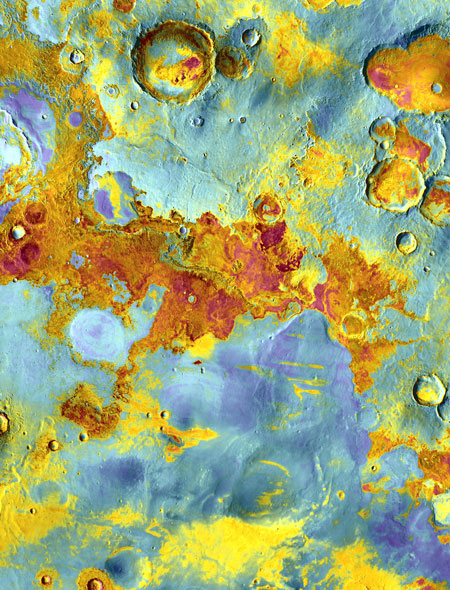 Mars, After Dark: Odyssey Spacecraft Paints a Vivid Portrait