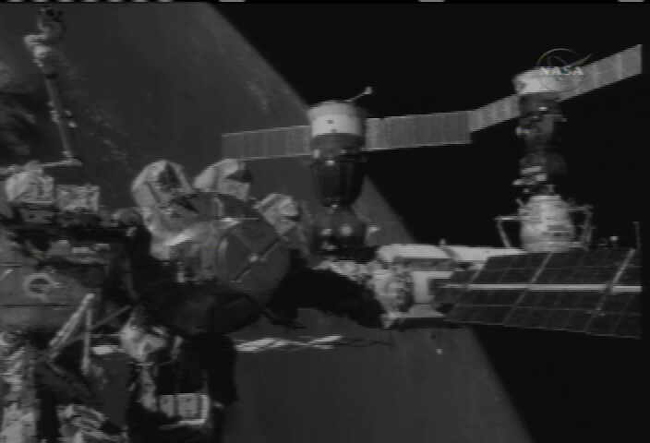 Fresh Russian Cargo Ship Docks at ISS
