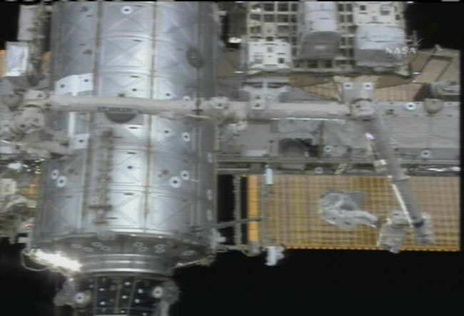 NASA: Spacewalk Clears Path for ISS Construction