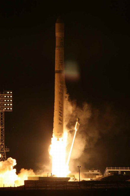 Commercial Zenit Rocket Launches New Telstar Satellite